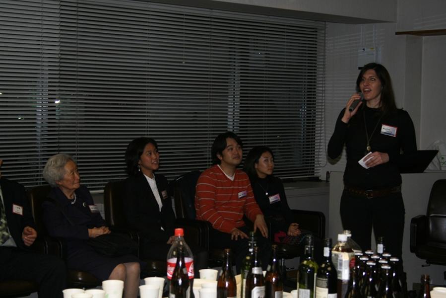 World Campus International Tokyo reception: Nicolina singing kizuna