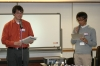 World Campus International Tokyo reception: Philip sharing his experience in World Campus - Japan