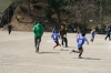 playing soccer with kids