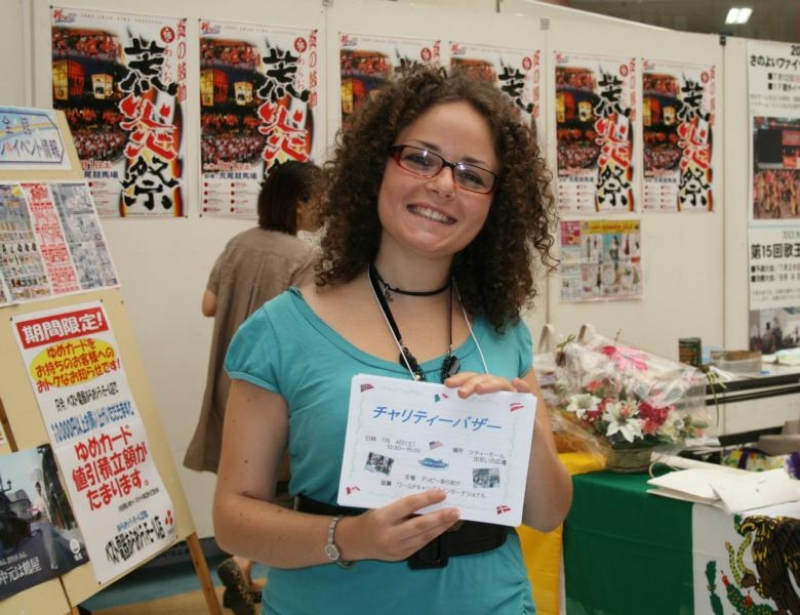 Adriana at Arao Charity Bazaar