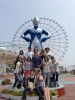 Group in front of Ultraman