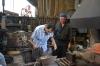 deform hot iron