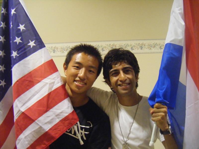 Ray from America and Ashwin from Holland