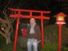 Shinto shrine at night