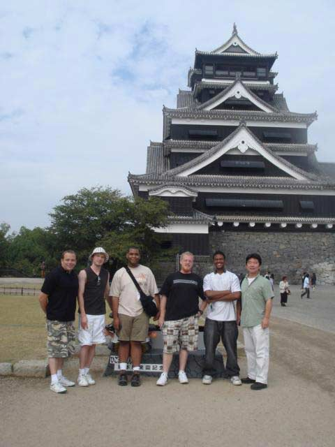 AsiaLearn '09: Group at Kumamoto Castle