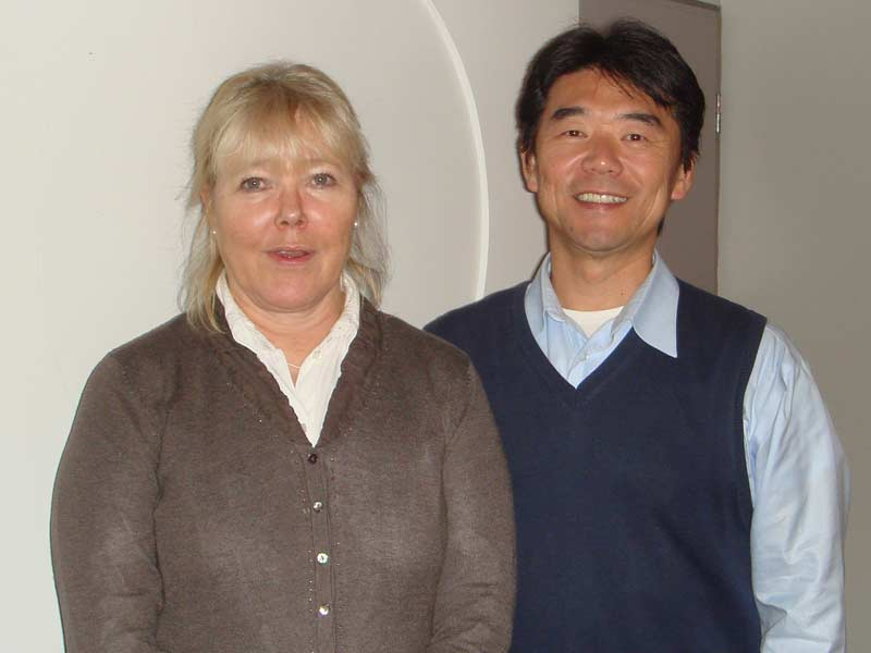 Hiro with Dr. Tuula Saarnio of Laurea University of Applied Sciences