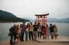 Group at Miyajima Itsukushima Torii