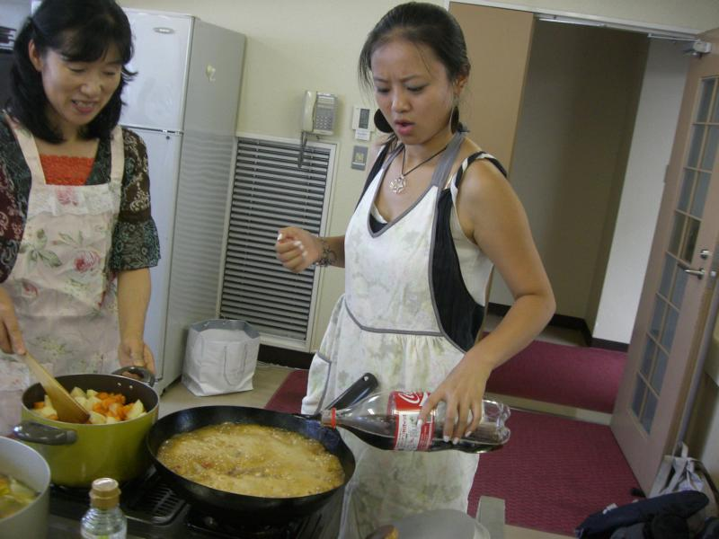 Cooking for Goodbye Party