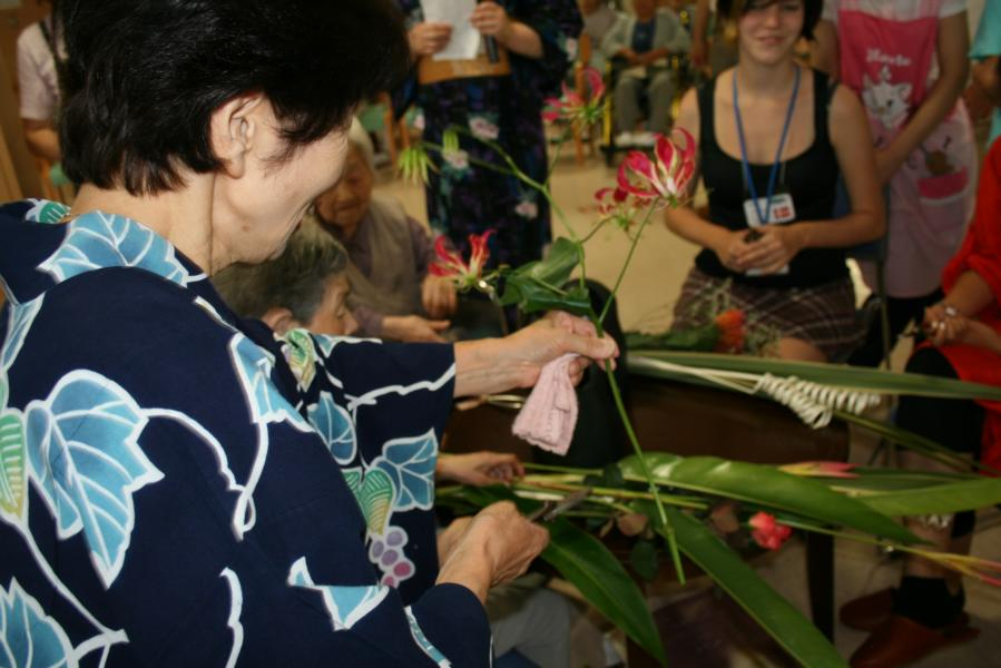Ikebana with Senior Citizens