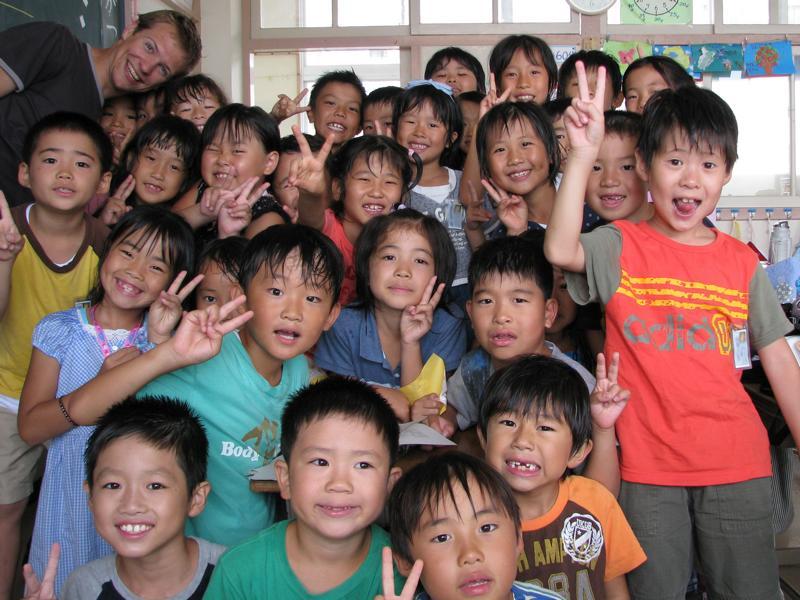 David at Japanese Elementary School