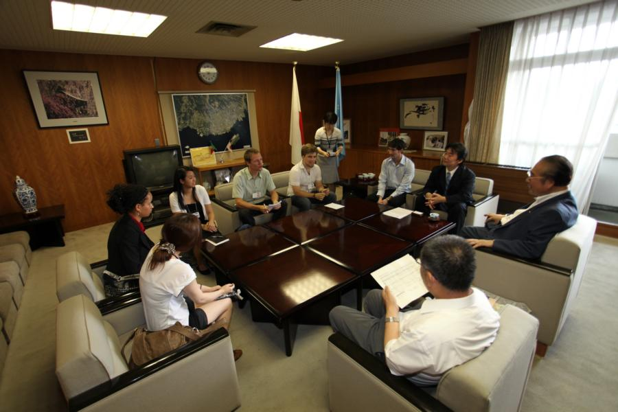Meeting with Omura  Mayor