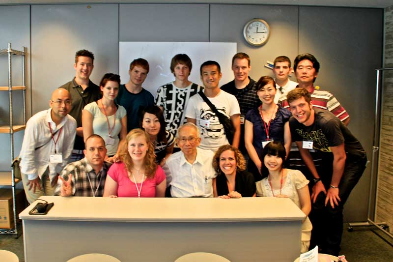 World Campus Japan members with the Survivor