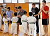 Members of World Campus Japan partnering with the Shorinji Kempo kids