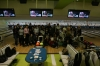 at the bowling alley with students from Kansai University