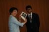 Meeting the Mayor of Tama