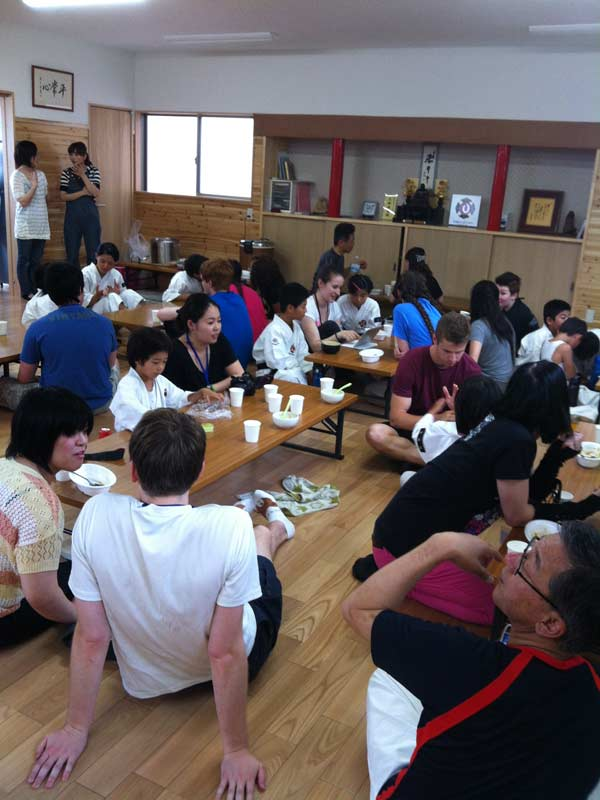 Interaction with the children and local community at the Shorinji Kempo dojo.