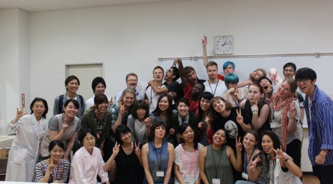Group photo with students of_Kumamoto_Prefectural_University