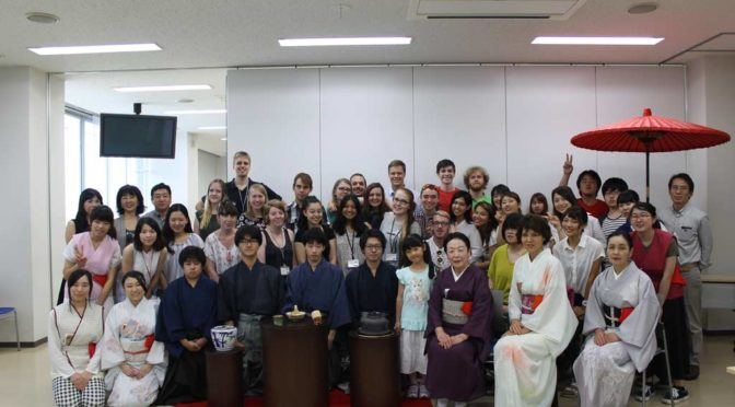 Group picture with the Tea Ceremony club in Abiko