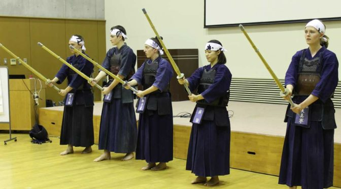 Kendo presentation during the Arigato Event in Toride