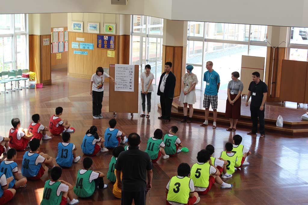 Activities with the kids at Nijinohara
